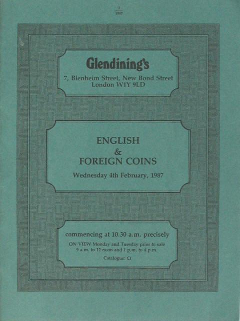 4 Feb, 1987  English & foreign coins.