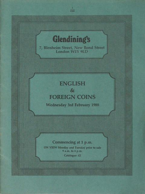 3 Feb, 1988  English and Foreign Coins.