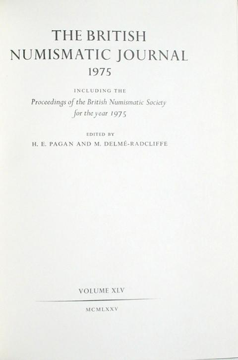 British Numismatic Journal 1975