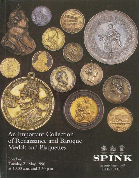 21 May 1996 Spink  Renaissance and Baroque Medals and Plaquettes