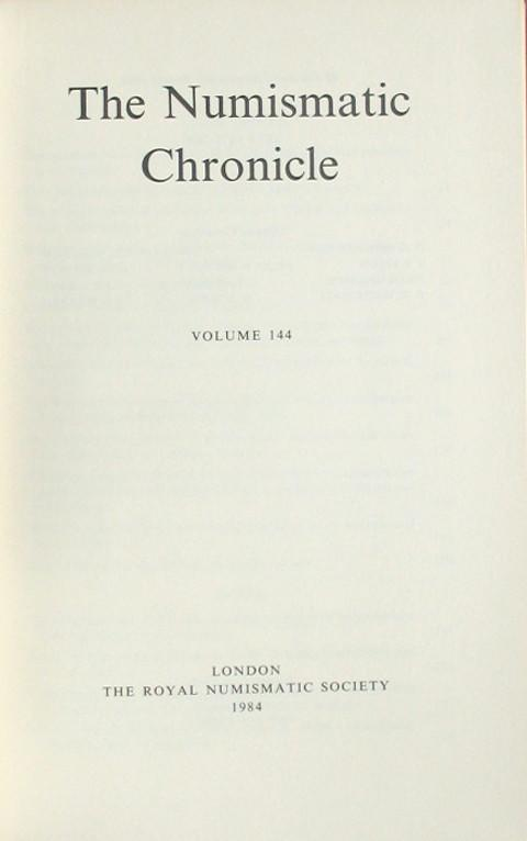 The Numismatic Chronicle 1984