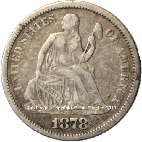 USA  10 cents 1878