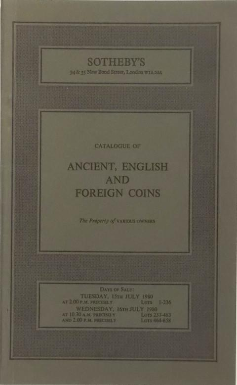 15 Jul, 1980  Ancient, English & Foreign Coins