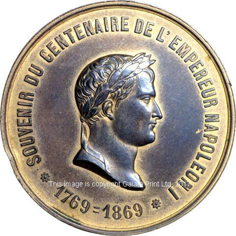 France, Centenary of Napoleon I, 1769 - 1869.
