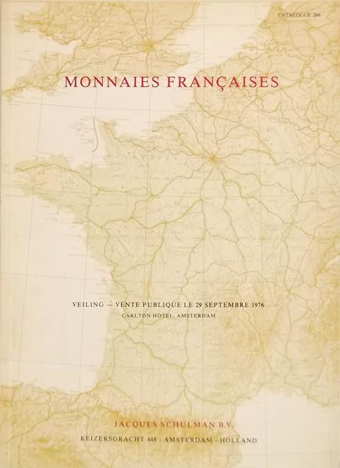 29 Sept. 1976. Sale no. 266. Monnaies francaises.