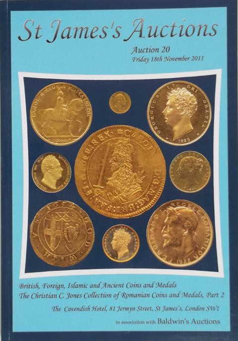 St James's Auctions  20.  British Coins and Medals. Sovereigns World Coins and Medals. Romanian coins and Medals.  Islamic and Ancient coins.