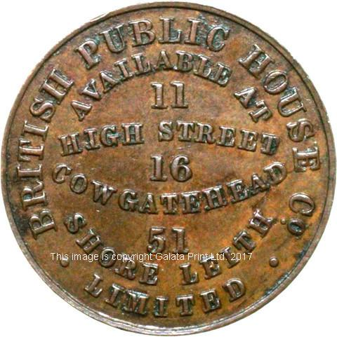 EDINBURGH TEMPERANCE PENNY TOKEN