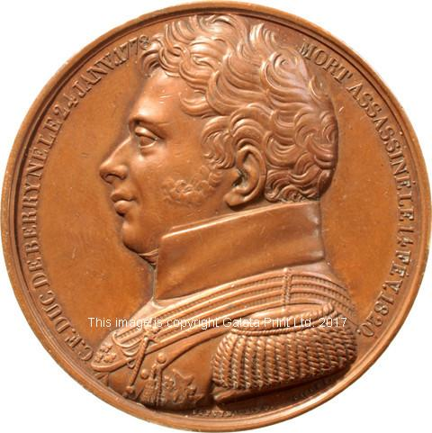 FRANCE, Duc de Berry, assassinated 1820