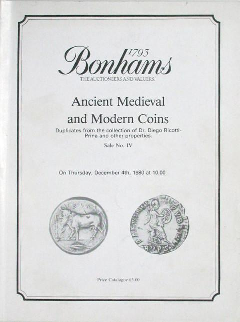Bonhams - Vecchi Sale 4.   4 Dec, 1980
