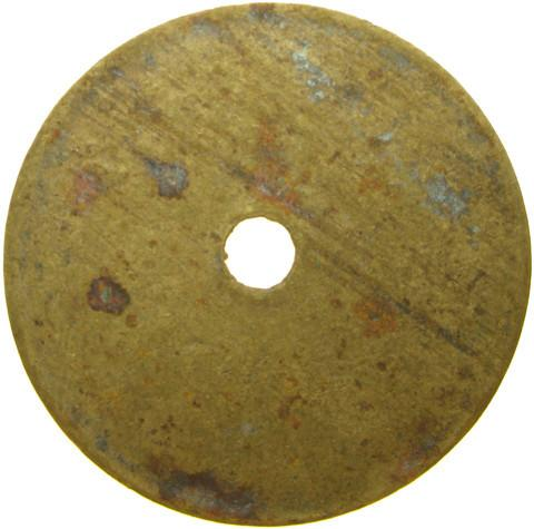 Co-op token, Radstock Half pint milk token.  Brass.
