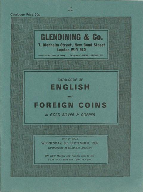 8 Sep, 1982  English and Foreign Coins.