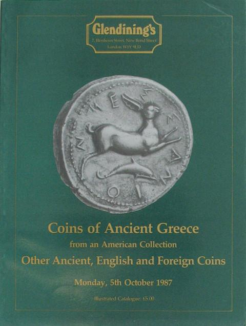 5 Oct, 1987 Coins of Ancient Greece from an American Collection