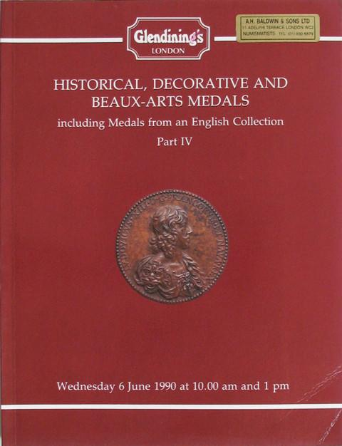 6 Jun, 1990  Historical, decorative and Beaux-Arts Medals. From an English collection, part IV.