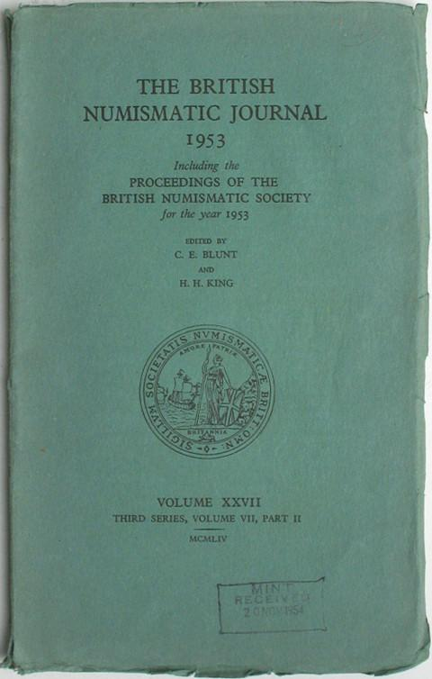 British Numismatic Journal 1953