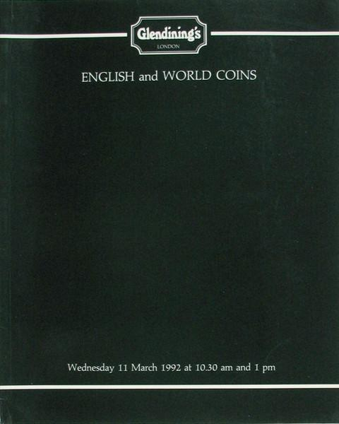 11 Mar, 1992 English and World Coins.