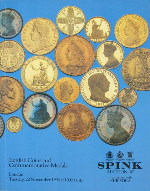 Spink 107.  English coins and Commemorative medals.