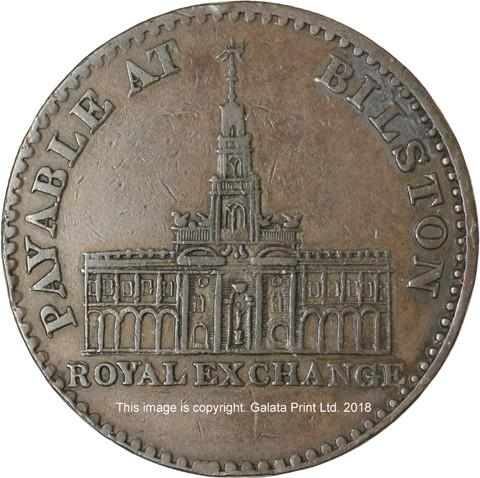 BILSTON, Royal Exchange. Penny token 1811.