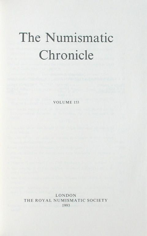 The Numismatic Chronicle 1993
