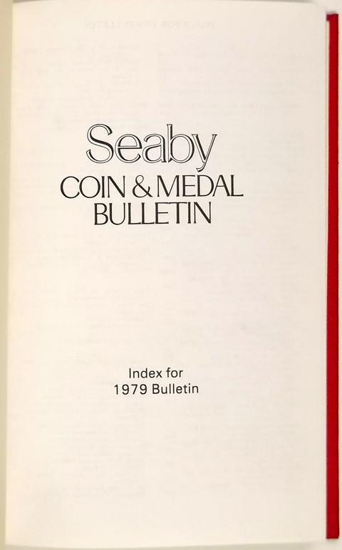 Seaby Coin and Medal Bulletin 1979