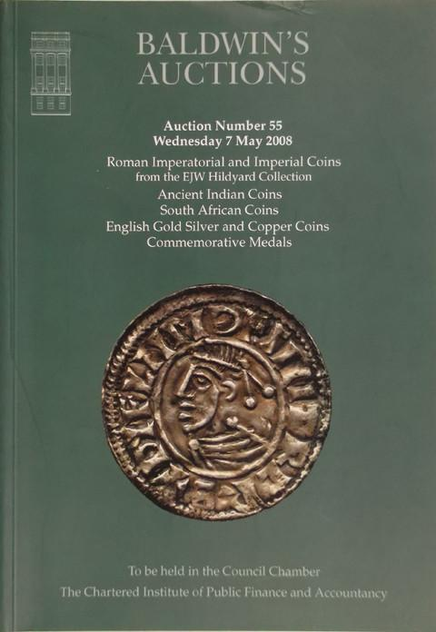 Baldwins Auctions.  No 55. 7 May 2008.  Roman, Indian, S African and British coins, etc.