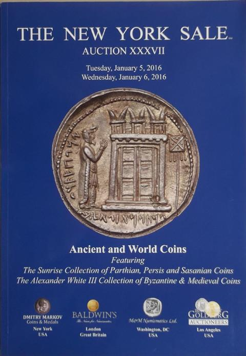 The New York Sale.  Auction XXXVII. 5 Jan 2016. Ancient and World coins