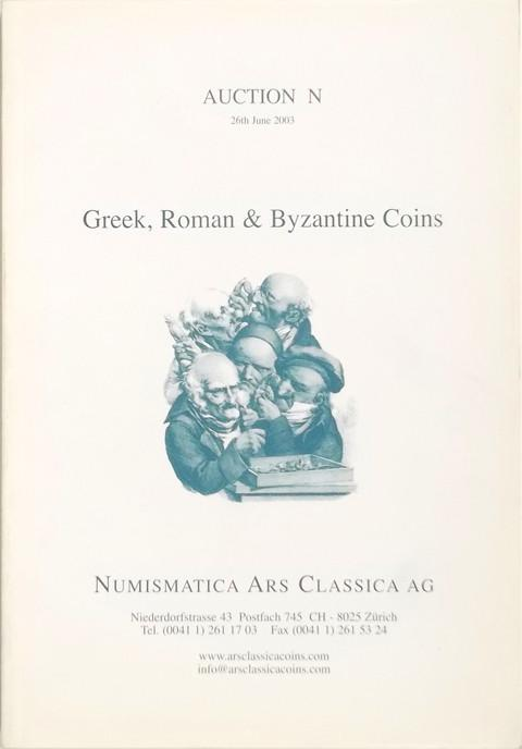 26 June 2003.  Auction N. Greek, Roman and Byzantine coins.