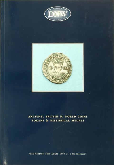 14 Apr 1999  DNW 40.   Ancient, British and World coins, tokens and historical medals.