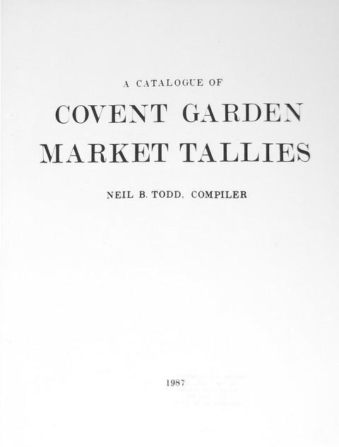 Covent Garden Market Tallies
