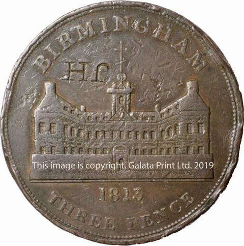 BIRMINGHAM, Workhouse. 1813.  THREEPENCE