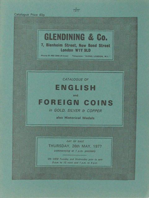 26 May, 1977  English and Foreign coins, Historical medals.