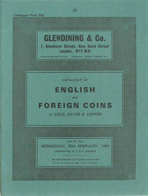 25 Feb, 1981  English and foreign coins.