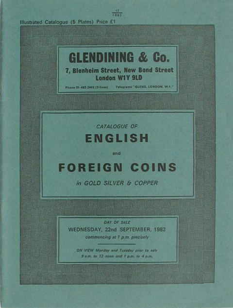 22 Sep, 1982 English and Foreign Coins.