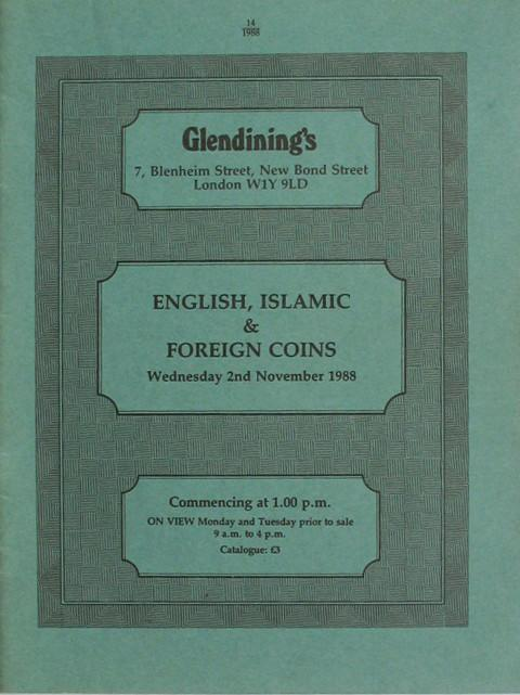 2 Nov, 1988  English, Islamic and Foreign Coins.