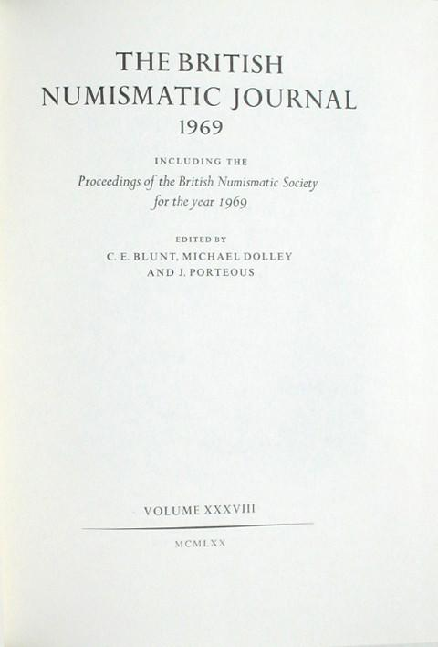 British Numismatic Journal 1969
