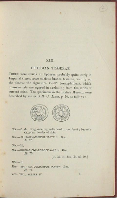 The Numismatic Chronicle 1908 - Part 4