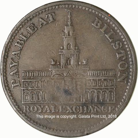 BILSTON, Staffordshire.  Penny token 1811.  Royal Exchange.