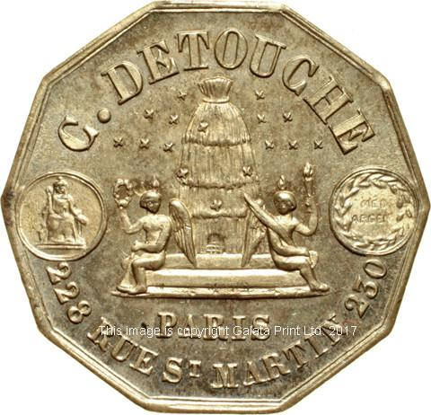 FRANCE Paris Advertising Ticket or Token. C Detouche.