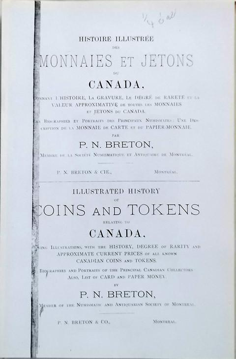 Illustrated History of Coins and Tokens Relating to Canada.