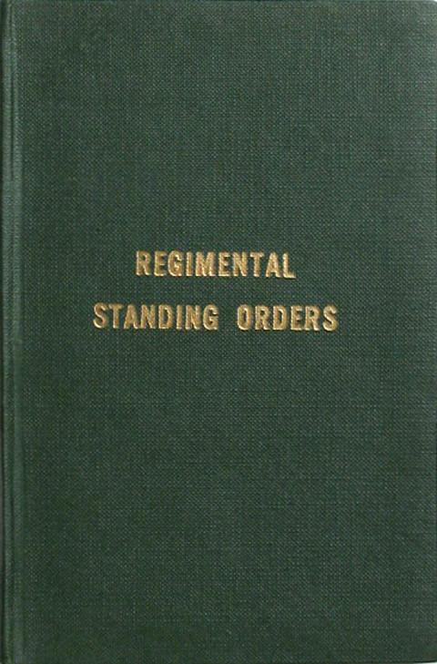 Regimental Standing Orders.  The Shropshire Yeomanry.
