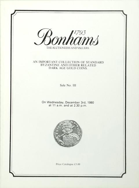 Bonhams - Vecchi Sale 3.  3 Dec, 1980