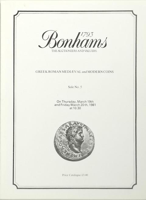 Bonhams - Vecchi Sale 5.  19  March, 1981