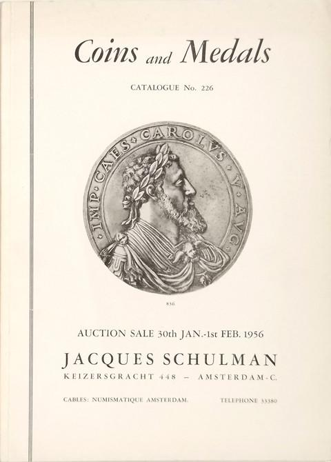 30 Jan. 1956  Jacques Schulman, Amsterdam.  Sale 226.