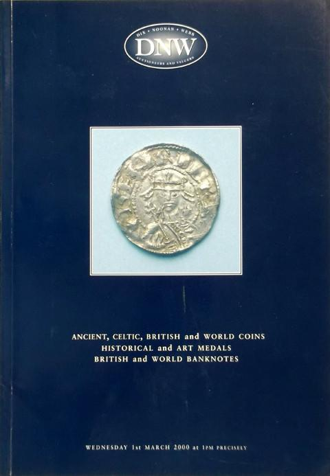 1 Mar 2000  DNW 45.   Ancient, Celtic, British and World coins, historical and art medals, British and world banknotes.