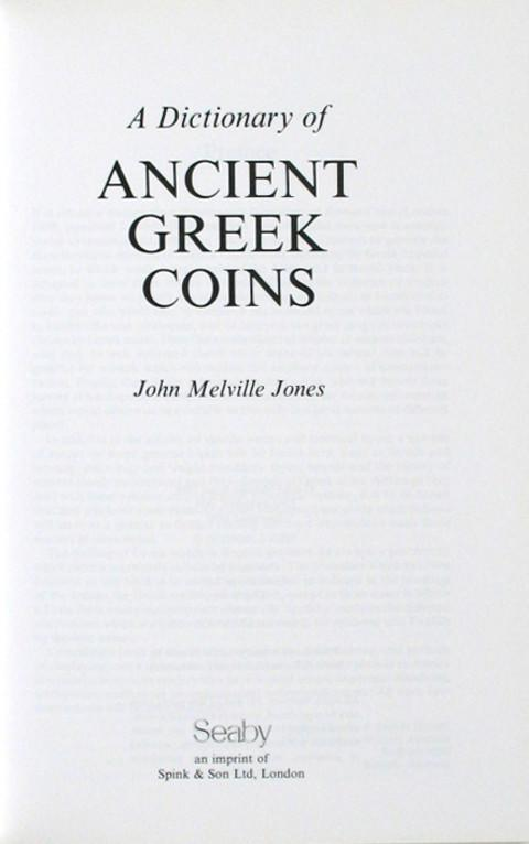 A Dictionary of Ancient Greek Coins.
