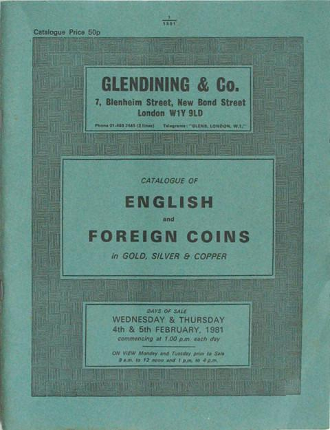 4 Feb, 1981  English and foreign coins.