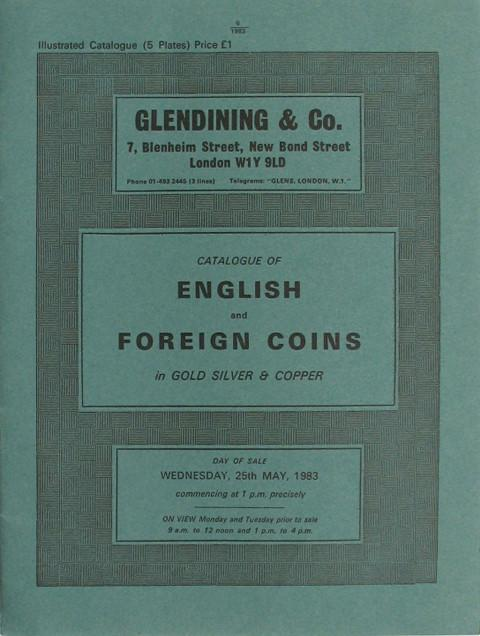25 May, 1983  English and Foreign coins.