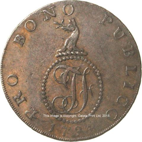 SUFFOLK,  Haverhill.  Halfpenny token, 1794