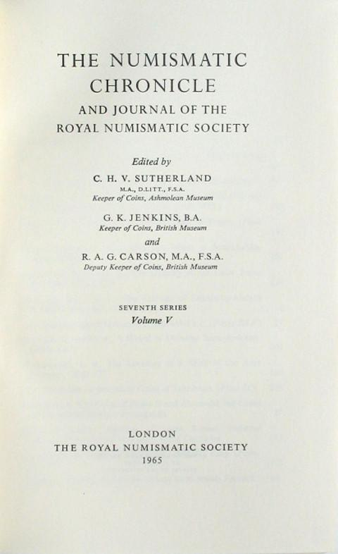 The Numismatic Chronicle 1965
