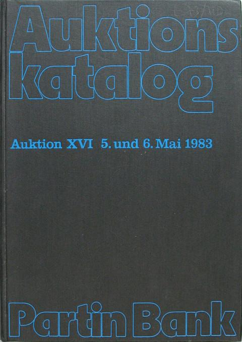 5 Mai 1983  Sale Auktion XVI