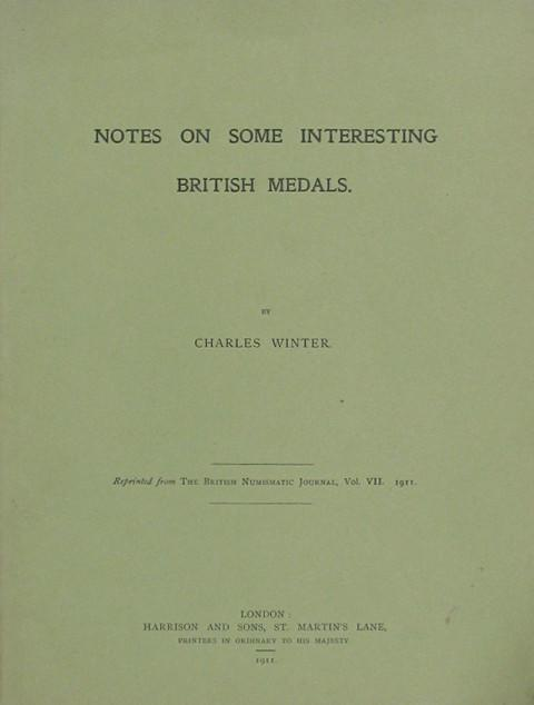 Notes on some interesting British Medals.